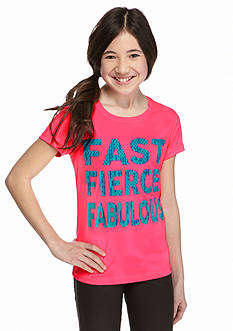 JK Tech™ 'Fast Fierce and Fabulous' Graphic Top Girls 7-16