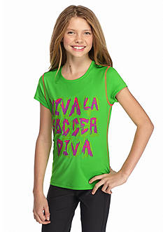 JK Tech™ 'Viva La Soccer Diva' Screen Tee Girls 7-16