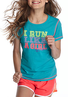 JK Tech® 'I Run Like a Girl' Screen Tee Girls 7-16