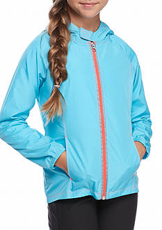 JK Tech Bright Colors Hooded Raincoat Girls 7-16