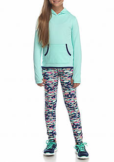 JK Tech Hoodie and Printed Pants Set Girls 7-16