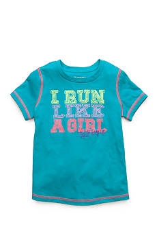 JK Tech® 'I Run Like a Girl' Screen Tee Girls 4-6x