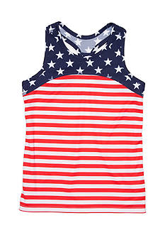 JK Tech Stars And Stripes Tank Top Girls 4-6x