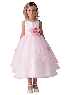 Us Angels® Satin And Tulle Layer Organza Tank Dress- Girls 4-6x