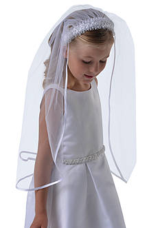 Us Angels Braided Headband with Veil Girls 4-16