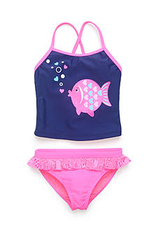 J Khaki™ 2-Piece Fish Tankini Girls 4-6x