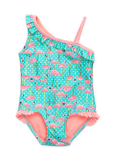 J. Khaki® Fancy Flock 1-Piece Swimsuit Girls 4-6x