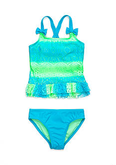 J. Khaki® Smooth Sailing Tankini Girls 4-6x