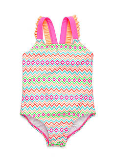 J. Khaki® Chevron 1-Piece Girls 4-6x