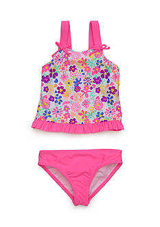 J. Khaki Two-Piece Springtime Tankini Girls 4-6x