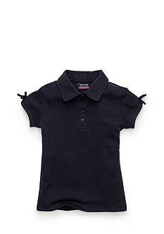 Nautica Uniform Polo Shirt With Bow Girls 4-6x