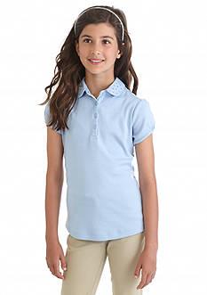 Nautica Uniform Bling Polo Shirt Girls 7-16