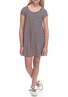 love, Fire Striped Jersey Dress Girls 7-16