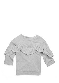 love, Fire Ruffle Sweatshirt Girls 7-16