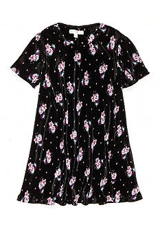 love, Fire Crinkle Floral Dress Girls 7-16