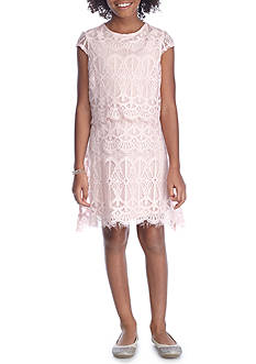 love, Fire Scallop Lace Dress Girls 7-16