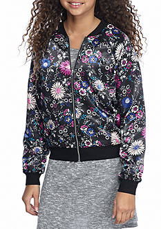 love, Fire Floral Bomber Jacket Girls 7-16