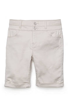 TINSEY Colored Double Button Bermuda Shorts Girls 7-16