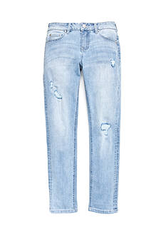 CELEBRITY PINK GIRLS Rip Repair Roll Cuff Jeans Girls 7-16