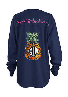 Royce Brand Pineapple Monogram Shirt Girls 7-16