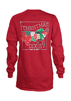 Royce Brand Christmas In Dixie Long Sleeve Tee Girls 4-6x