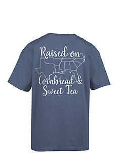 Royce Brand 'Raised on Cornbread & Sweet Tea' Graphic Tee Girls 7-16