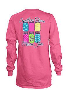 Royce Brand Southern Charm Mason Jars Long Sleeve Shirt Girls 7-16