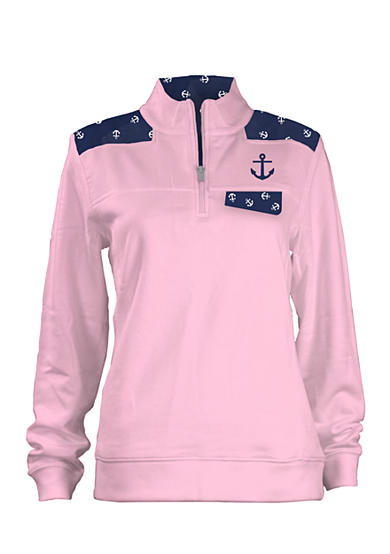 Royce Brand 1/4 Zip With Anchor Graphic Top Girls 7-16