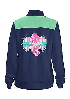 Royce Brand Graphic 1/4 Zip Turtleneck Top Girls 7-16