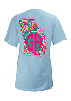 ROYCE Georgia State Floral Preppy Tee Girls 7-16