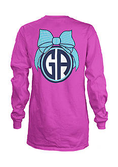 Royce Brand GA Monogram Bulb State Long Sleeve Shirt Girls 7-16