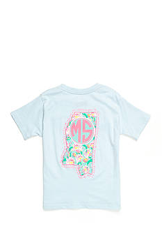 ROYCE Mississippi State Floral Preppy Tee Girls 7-16