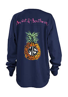 Royce Brand MS Pineapple Monogram Shirt Girls 6-17
