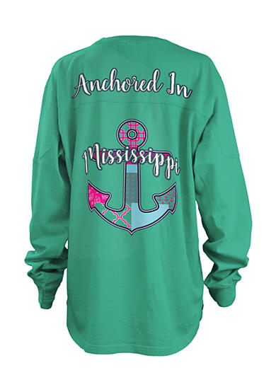 Royce Brand Long Sleeve Mississippi Anchored Top Girls 7-16
