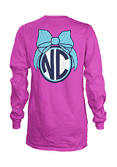 Royce Brand NC Monogram Bulb State Long Sleeve Shirt Girls 7-16