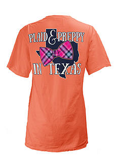 ROYCE Texas State Preppy Plaid Tee Girls 7-16