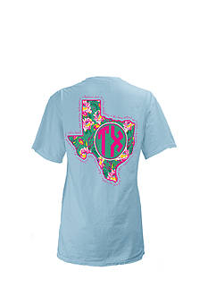 ROYCE Texas State Floral Preppy Tee Girls 7-16