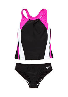 speedo 2-Piece Infinity Splice Tankini Girls 7-16