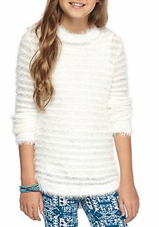 Red Camel Ribbed Eyelash Sweater Girls 7-16
