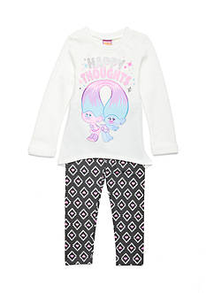 DreamWorks Trolls Happy Thoughts Pant Set Girls 4-6x