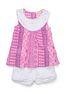 Self Esteem Bandanna Top and Eyelet Short Girls 4-6x