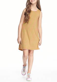 J. Khaki Knit Striped Dress Girls 7-16