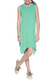 J. Khaki Stripe Knit Dress Girls 7-16