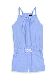 Nautica Chambray Romper Girls 4-6x