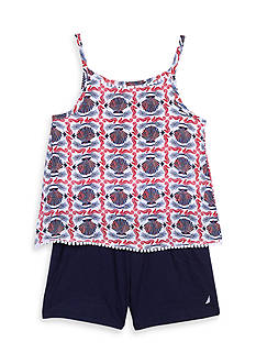 Nautica Printed Romper Girls 4-6x