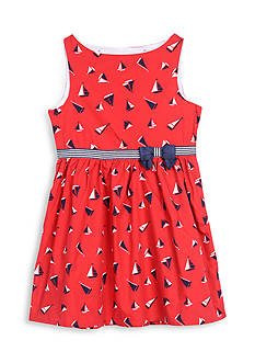 Nautica Printed Poplin Dress Girls 4-6x
