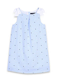 Nautica Seersucker Boat Dress Girls 4-6x