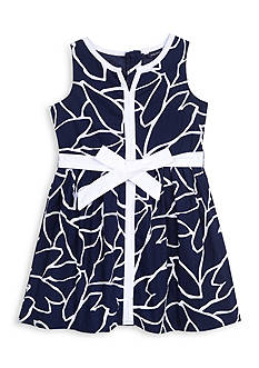 Nautica Printed Poplin Dress Girls 7-16