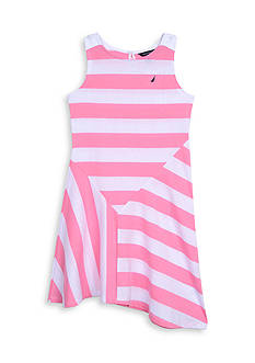 Nautica Jersey Stripe Dress Girls 7-16