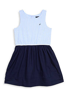 Nautica Oxford Jersey Dress Girls 7-16